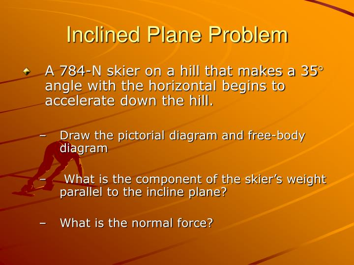 Inclined Plane Problem