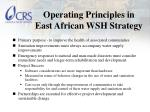 operating principles in east african wsh strategy
