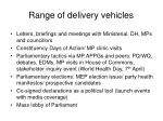 range of delivery vehicles1