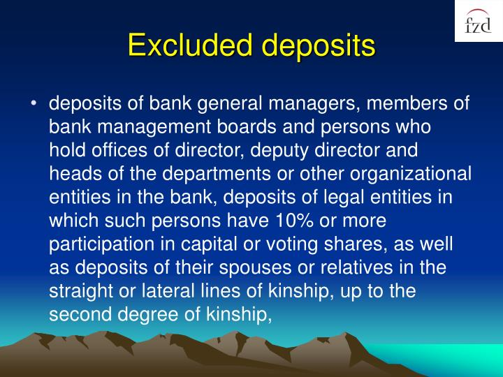 Excluded deposits