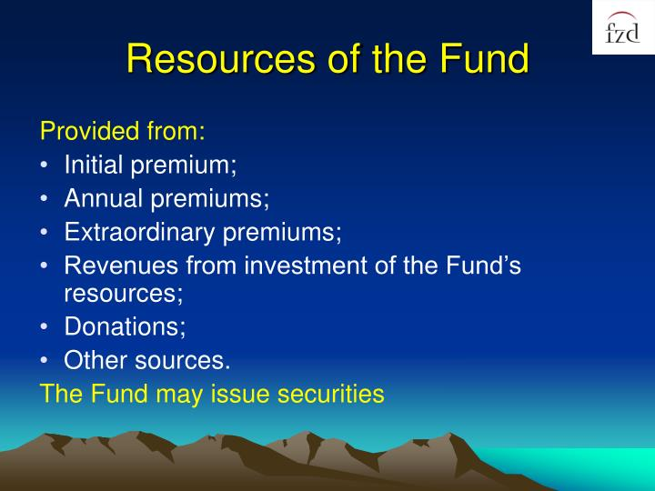 Resources of the Fund