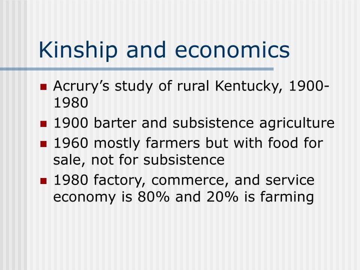 Kinship and economics