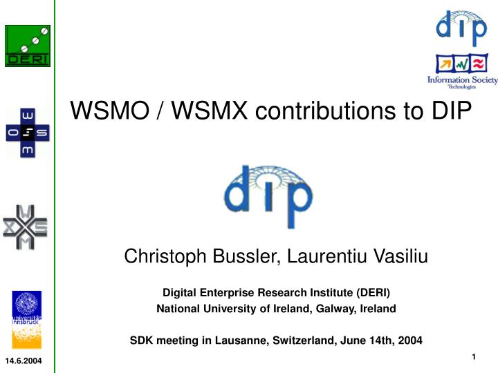 WSMO / WSMX contributions to DIP