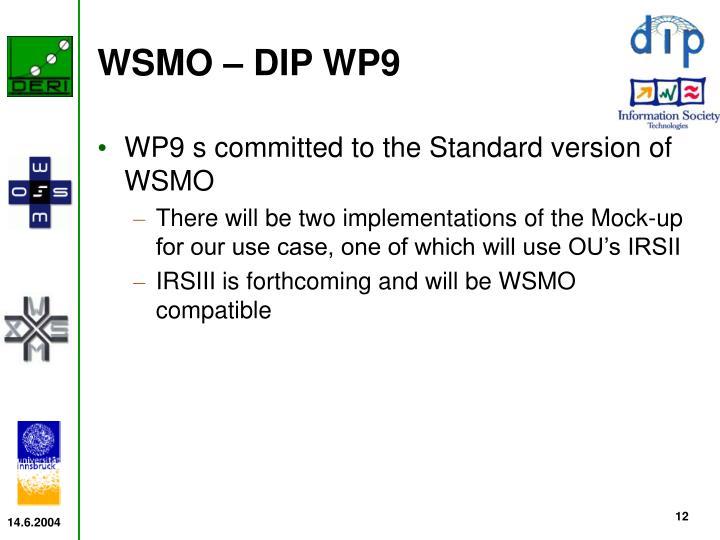 WSMO – DIP WP9