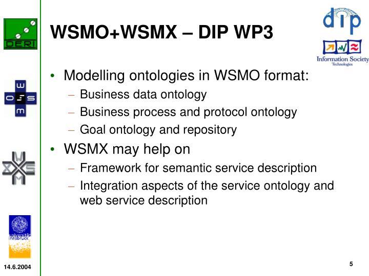 WSMO+WSMX – DIP WP3