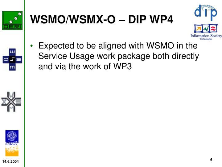WSMO/WSMX-O – DIP WP4