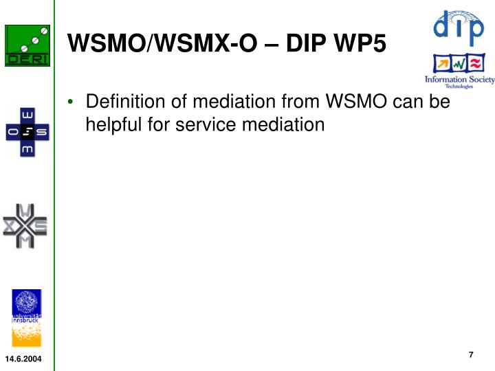 WSMO/WSMX-O – DIP WP5