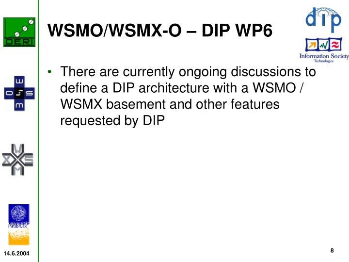 WSMO/WSMX-O – DIP WP6