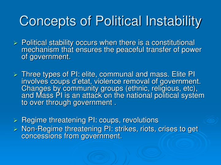 Concepts of Political Instability
