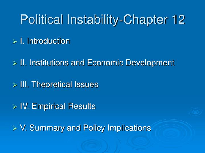 Political Instability-Chapter 12