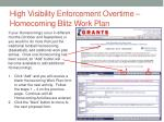 high visibility enforcement overtime homecoming blitz work plan1