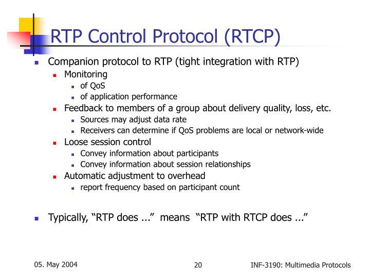 RTP Control Protocol (RTCP)