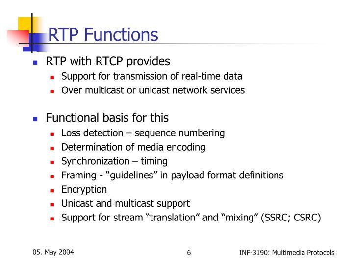 RTP Functions