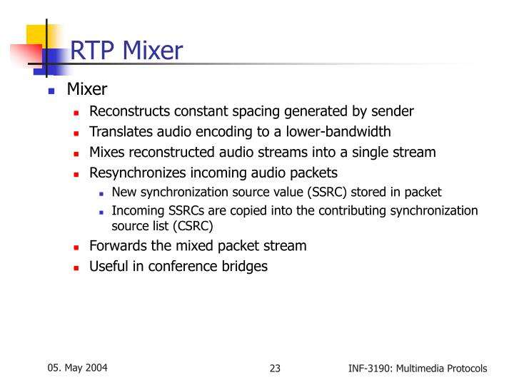 RTP Mixer