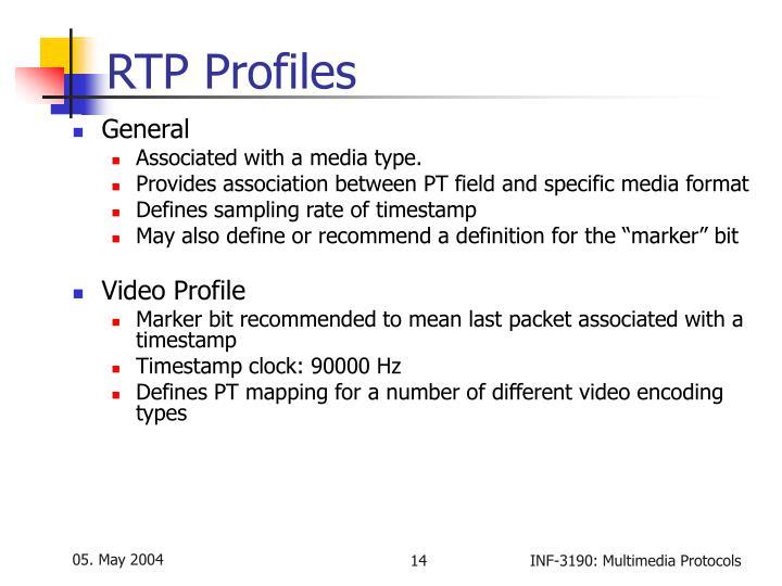 RTP Profiles