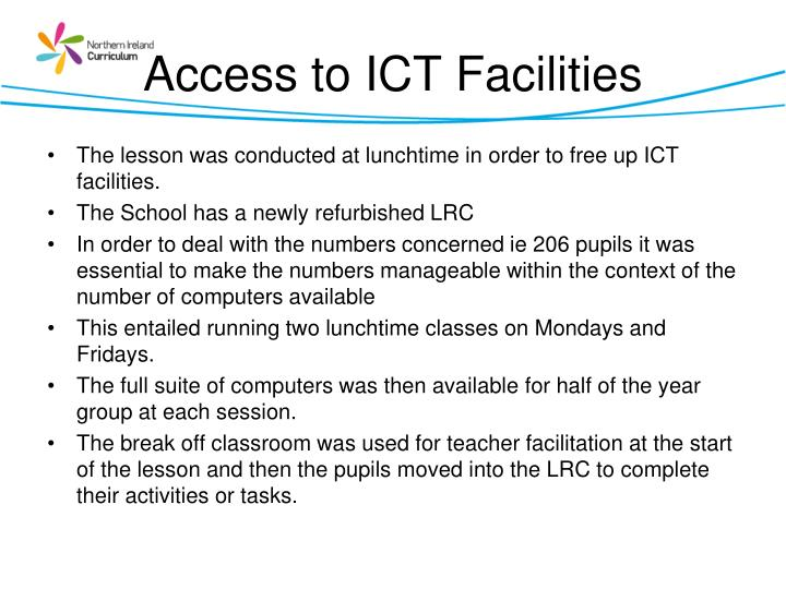 Access to ICT Facilities