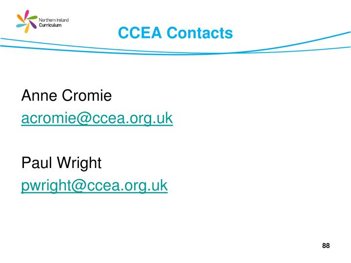 CCEA Contacts
