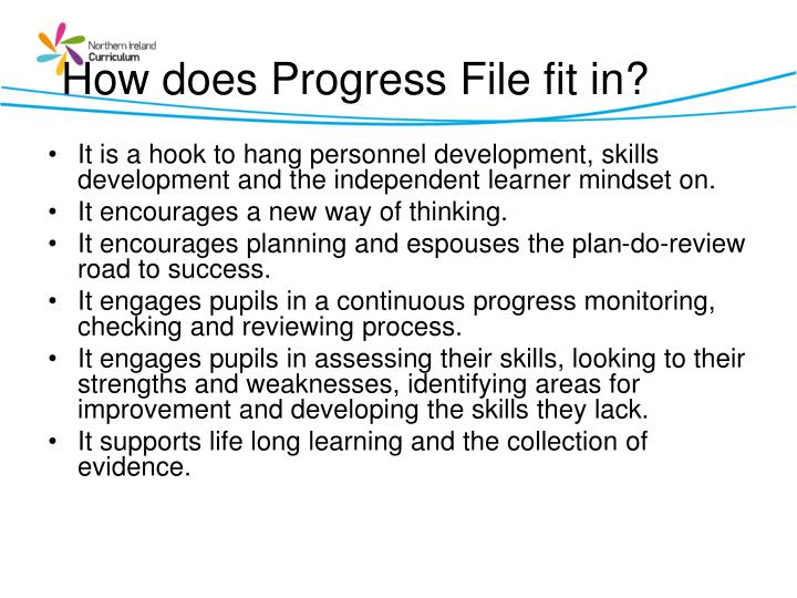 How does Progress File fit in?