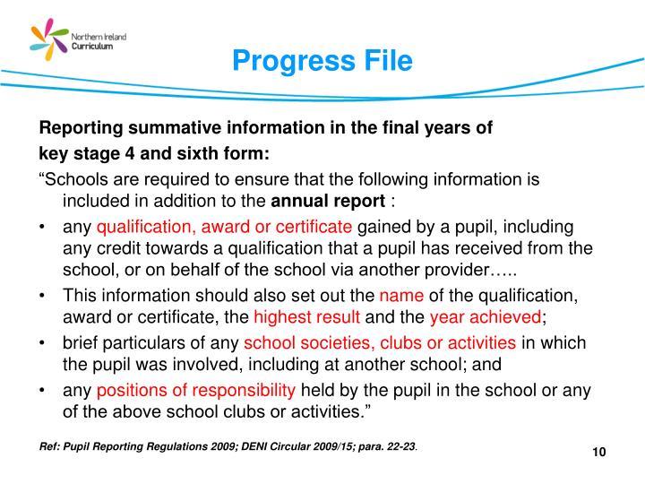 Progress File