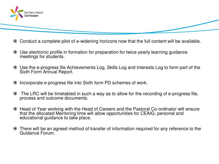 Proposals for the academic year 2011/12