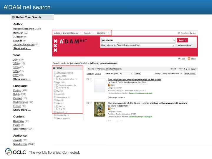 A'DAM net search