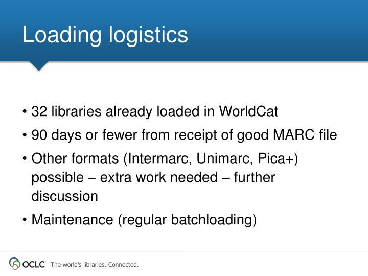 Loading logistics