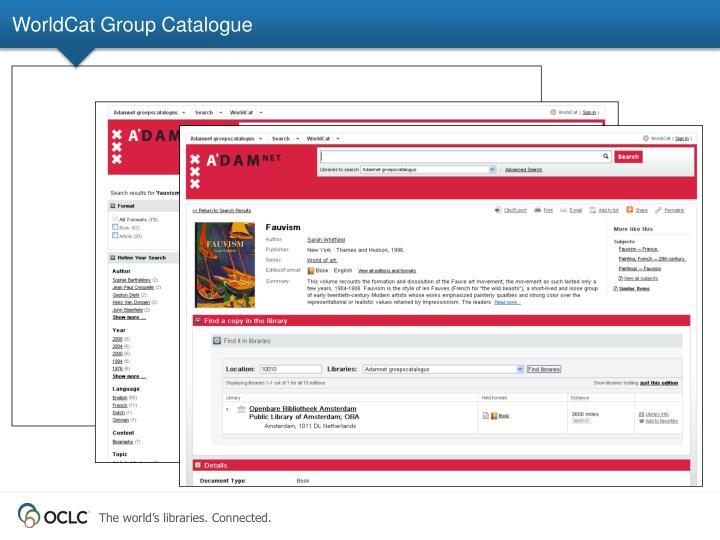 WorldCat Group Catalogue
