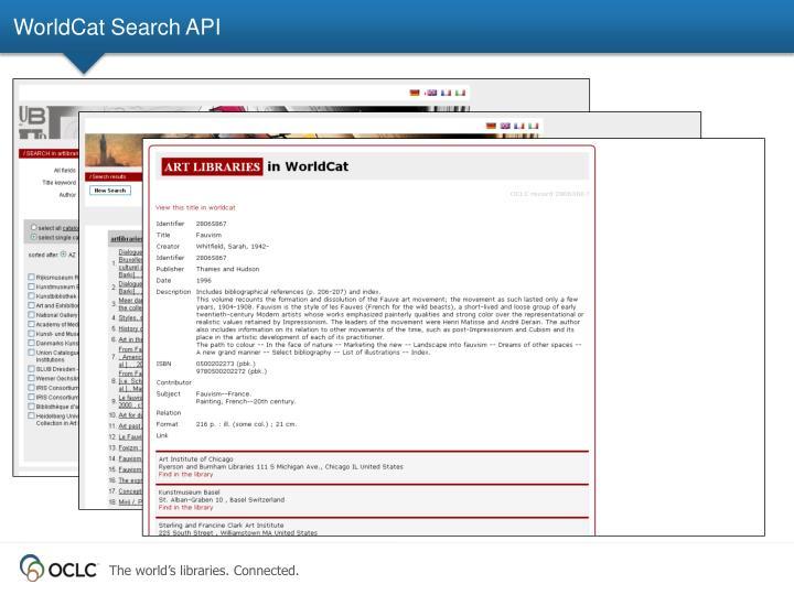 WorldCat Search API