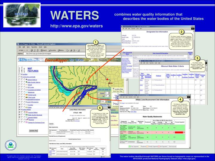 The Water Quality Standards Database contains information on the