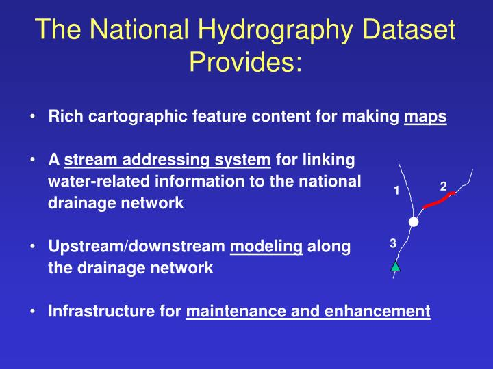 The national hydrography dataset provides