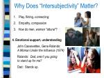 why does intersubjectivity matter