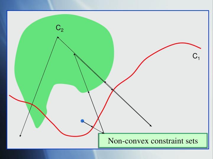 Non-convex constraint sets