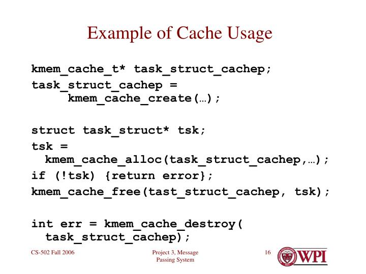 Example of Cache Usage