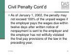 civil penalty cont d