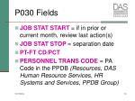 p030 fields
