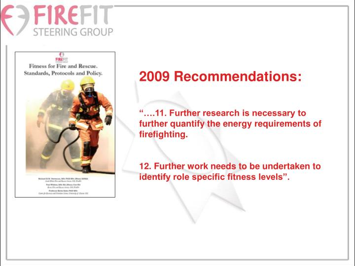 2009 Recommendations: