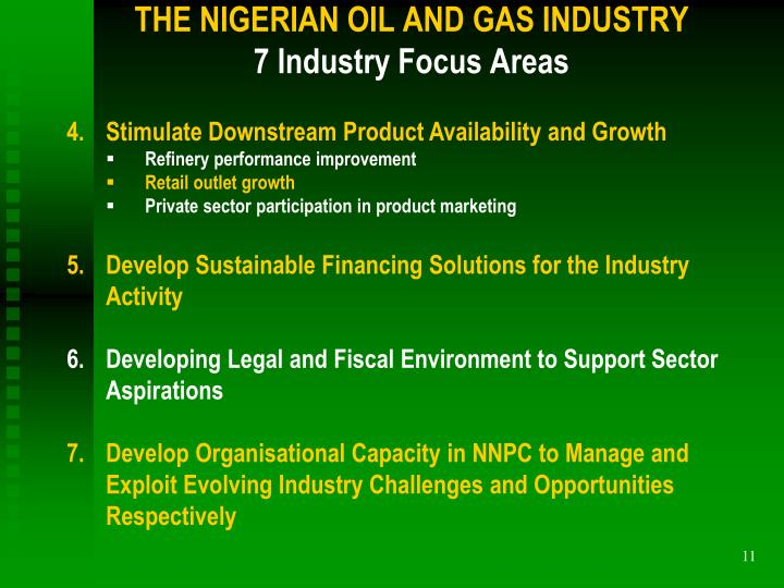 THE NIGERIAN OIL AND GAS INDUSTRY