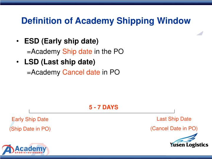 ESD (Early ship date)