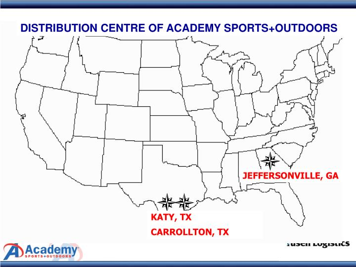 DISTRIBUTION CENTRE OF ACADEMY SPORTS+OUTDOORS