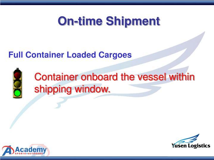 On-time Shipment