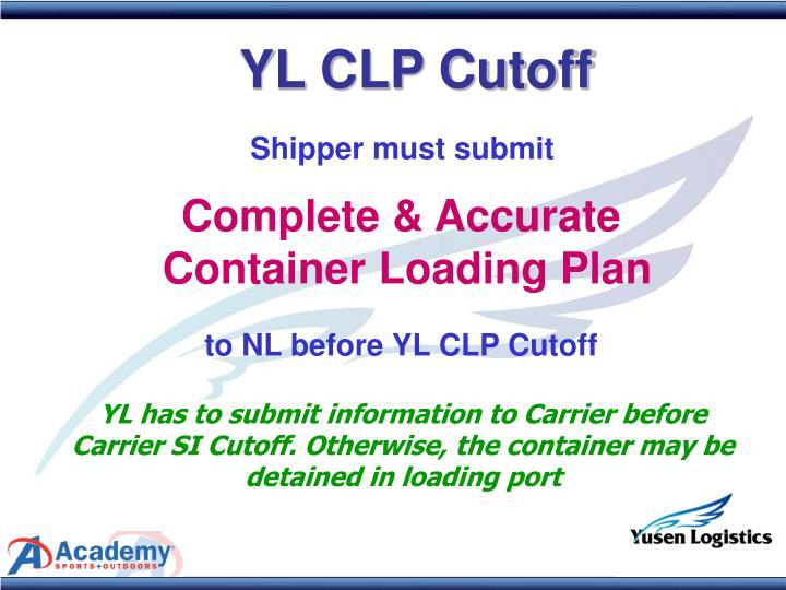 YL CLP Cutoff