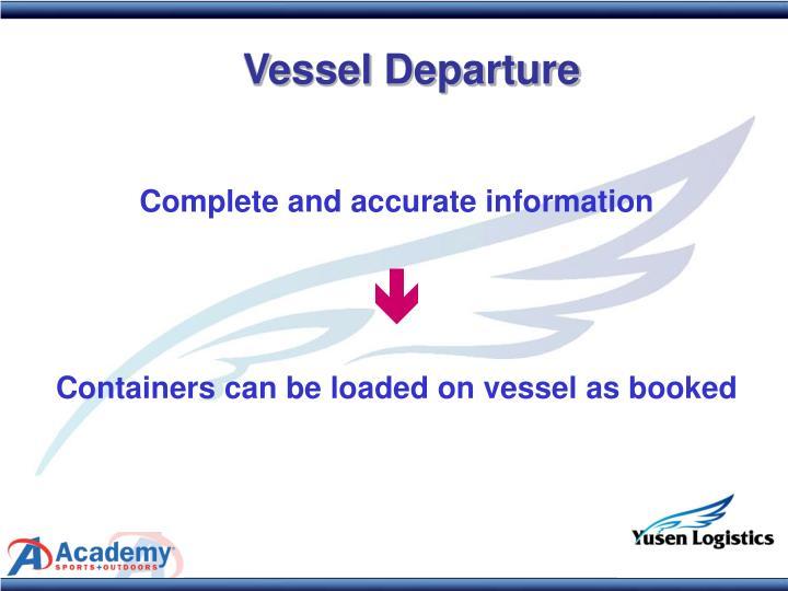 Vessel Departure