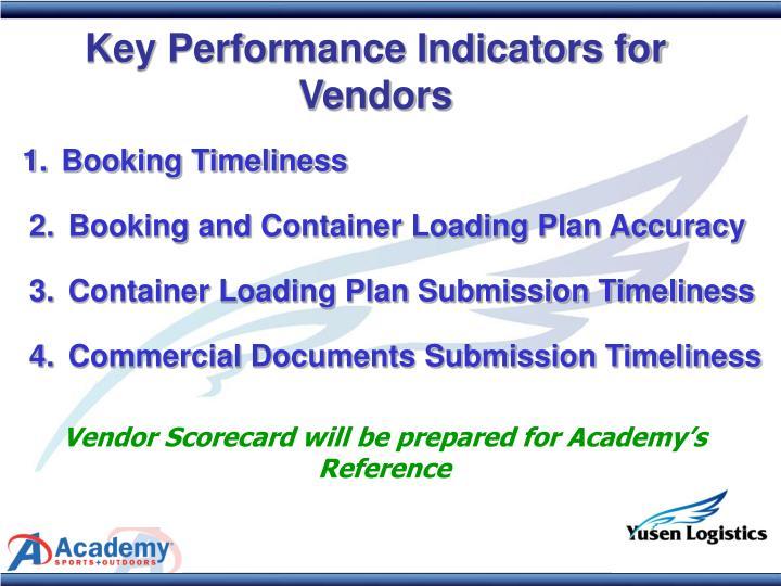 Key Performance Indicators for Vendors