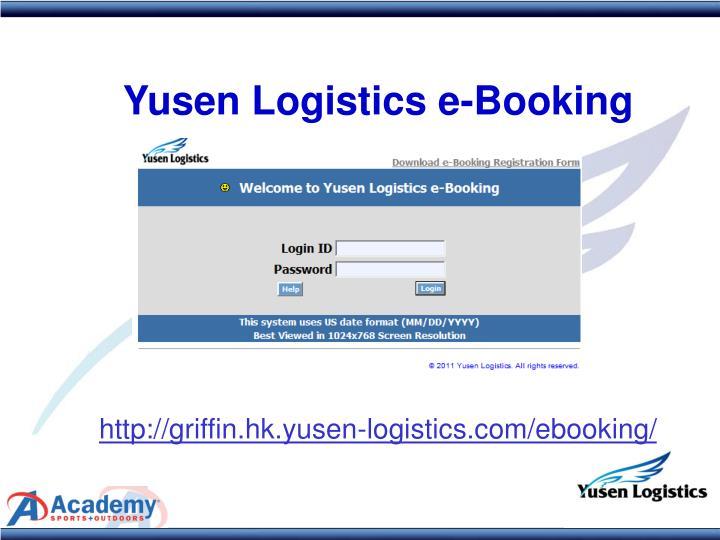 Yusen Logistics e-Booking