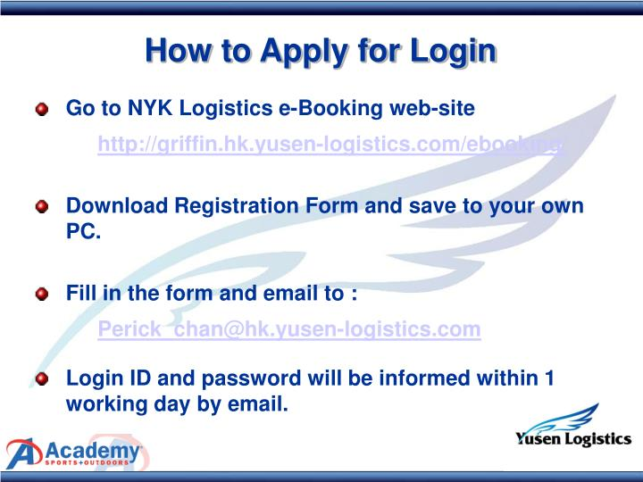 How to Apply for Login