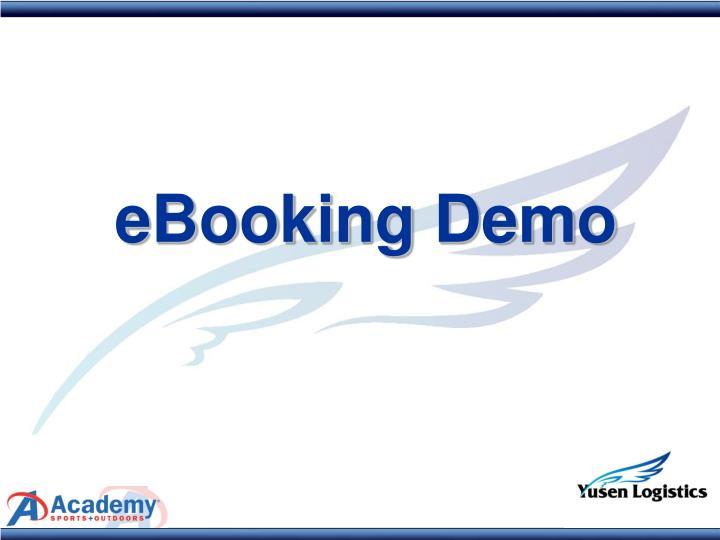 eBooking Demo
