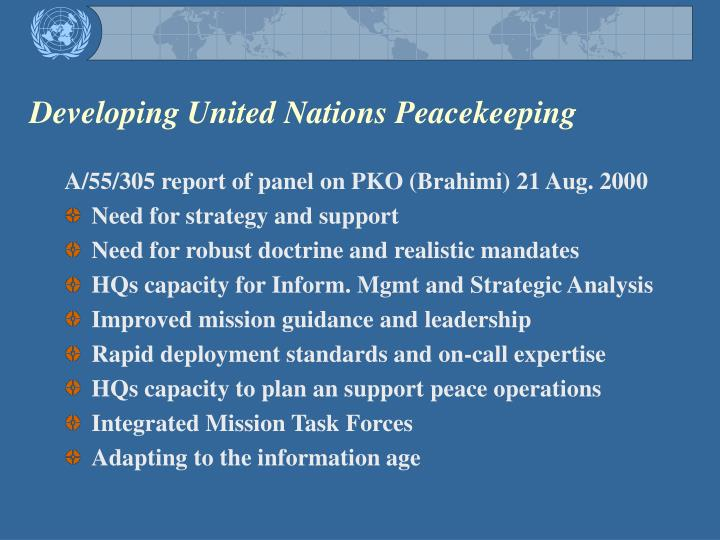 Developing united nations peacekeeping1