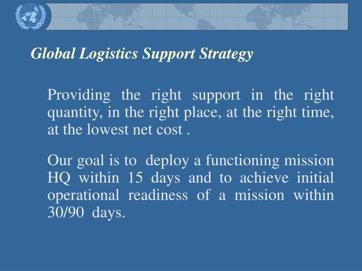 Global Logistics Support Strategy