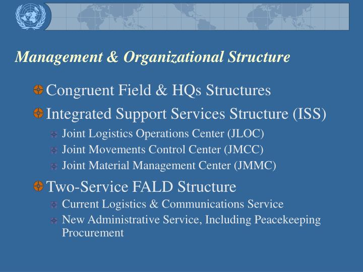 Management & Organizational Structure