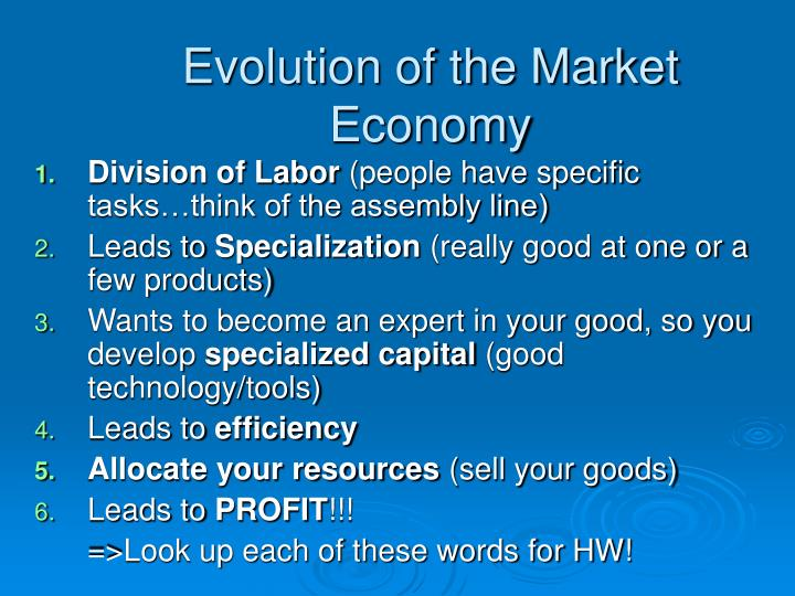Evolution of the Market Economy